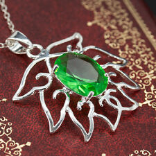 925 Silver Hollow Emerald Pendant Fit Necklace Unique Jewelry Chic Gift