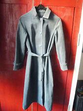 Imperméable trench coat, vintage, bleu gris, suédine, années 60/70, T 40/42