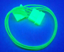 """LOT OF (5) 12"""" UV GREEN 4-PIN MOLEX(M) TO 4-PIN MOLEX(F) POWER EXTENSION CABLE"""