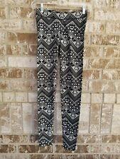 PINK VICTORIA'S SECRET Black White Leggings Size XS