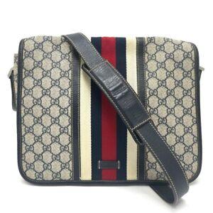 GUCCI 145844 Sherry line GG Plus Messenger Bag Crossbody Shoulder Bag