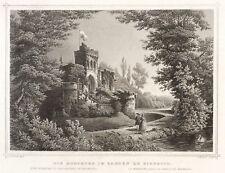 Wiesbaden-biebricher Castello Park-Mosburg-LUNGA-ACCIAIO CHIAVE 1842-1846