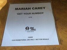 MARIAH CAREY - Get Your Number - 1trk Cd-r Acetate..RARE.