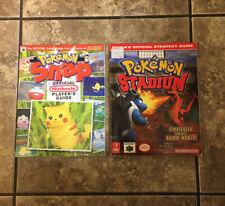 Pokemon Snap & Stadium Player's Guide (Nintendo Power) Prima N64 Vintage Lot