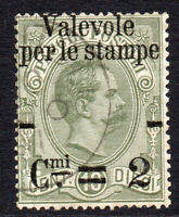 Italy 2c on 10 Cent Parcel Overprint Stamp c1890 Used (652)