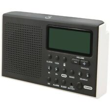 GPX R616W Portable 6-Band Shortwave AM/FM Radio with built-in Speaker and Clock