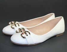 andy-05 New Forever Slip On Synthetic Casual Women's Ballet Flats Shoes White