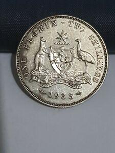 1933 australian florin coin VF