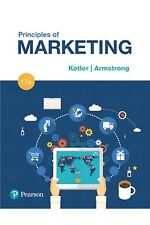Principles of Marketing by Gary Armstrong Hardcover Book (17th Edition)