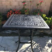 "Outdoor bar square table 36"" Elisabeth patio pool side cast aluminum furniture"