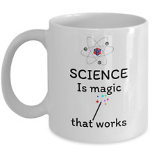 Science Physics mug Science is magic that works scientist funny laboratory gifts