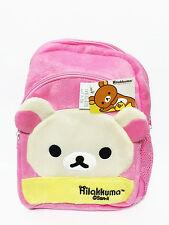 Korilakkuma Rilakkuma Pink Plush Backpack Bookbag Kid Girl School Shoulder Bag