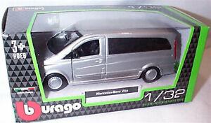 Mercedes Benz Vito Van Silver 1:32 Scale Diecast  burago New in Box