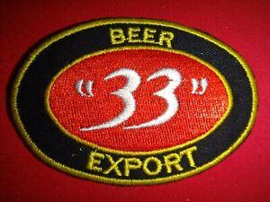 """Beer EXPORT """"33"""" SAIGON Beer Factory Circa 1960s Vietnam War Patch"""