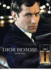PUBLICITE ADVERTISING 027  2012   Dior homme parfum Intense Jude Law