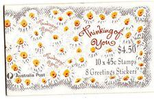 1992 AUSTRALIAN STAMP BOOKLET THINKING OF YOU (2 KOALA) 10 x 45c STAMPS MUH