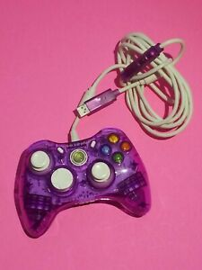 XBOX 360 Video Game Controller Wired Purple Rock Candy Model PL-3760