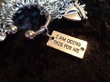 I am doing this for me - Motivation Weight Loss Charm for Weight Watchers Ring