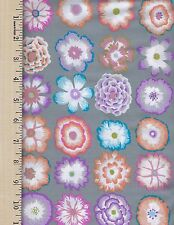 Kaffe Fassett BUTTON FLOWERS GRE Rowan 100% Cotton Fabric priced by the 1/2 yard