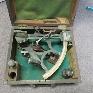 W.F. Cannon Sextant in Original Wooden Box Nautical Shadwell London