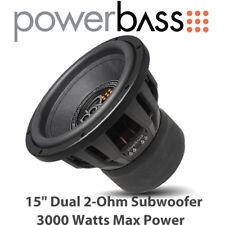 "Powerbass 3XL-1520D - 15"" Dual 2-Ohm Car Audio Subwoofer 3000 vatios de potencia máxima"