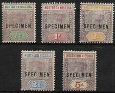 More details for northern nigeria 1902 specimen overprtints up to 5d superb mlh