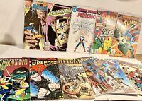 Vintage DC Villians Superman Flash Justice League 24 Comic Book Lot Comics