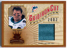 2002 Gridiron Kings ZACH THOMAS Cut Collection Jersey Rare SP Miami Dolphins 400