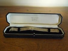 Clinton 17 Jewels Wrist Watch Gold Toned and Stainless Back with Case