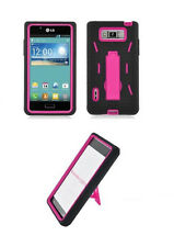 Kickstand Hybrid Armor Cover Case for LG Optimus L7 / P700 / P705G Phone