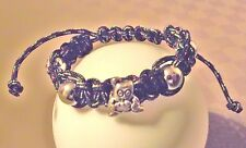 Bracelet Shambala homme Femme * Drisse & perles argentées * Shamballa  Fait Main