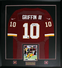 Robert Griffin III RG3 Washington Redskins Signed jersey NFL Football Frame