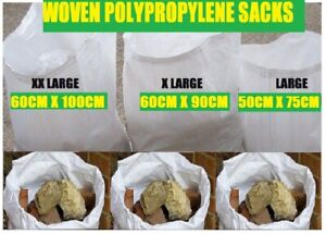 SUPER Tough Woven Rubble Sacks/bags Builders/Gardeners/Clearance Posting 3 SIZES