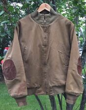 Vintage 40s WWII US Army Tanker 2nd Pattern Lined Elbow Patch Field Jacket Rare.