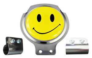 Scooter Bar Badge - Smiley Face - FREE BRACKET & FIXINGS