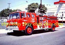 Fire Apparatus Slide Los Angeles California 1972 Ford American LaFrance CA14