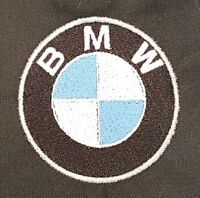 NEW CUSTOM DICKIES LS535 BLACK EMBROIDERED BMW LOGO MECHANIC WORK SHIRT