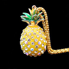 long gold coloured chain with a Large Pineapple Pendant