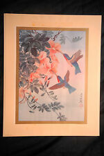"HUNG-CHU  LEE Signed Limited Edition Print 838/1000 ""Hummingbirds"""