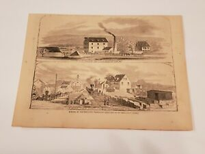 Scenes at Hagerstown Maryland Depot Army Store c. 1862 Civil War Harper's Weekly