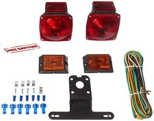 Rear Submersible Trailer Tail Lights Kit Boat Marker Truck Round Waterproof New