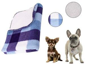 Dog Blanket Pet Throw Warm Bed Cover Sherpa Fluffy Comforter Cat Fleece Grey