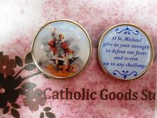St. Saint Michael - Give Us Your Strength - Enamel Pocket Token - Coin