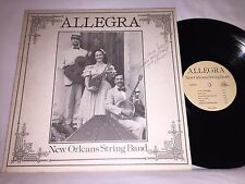 ALLEGRA - NEW ORLEANS STRING BAND - VINTAGE LP - SIGNED!
