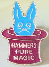 West Ham United Vintage MARTELLI PURA MAGIA Distintivo Spilla in dorati 18 mm x 26 mm