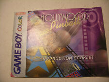 Retrogaming NINTENDO GBA Game Boy COLOR Notice HOLLIWOOD PINBALL manual Europe