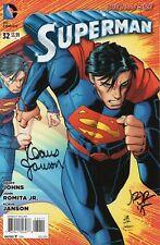 Superman #32 (VFN)`14 Johns/ Romita Jr  (Autographed)