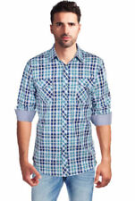 Plaid Western Shirt Long Sleeve Casual Shirts & Tops for Men