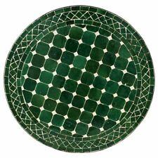 Marocain Table en Mosaïque Bistrotisch Rond Plateau à Thé Table Foncé Vert D60