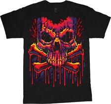 Mens Big and Tall T-shirts Graffiti Skull Big Men Clothing Tall Graphic Tee